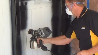 Wagner XVLP FC3500 - Spraying a door!