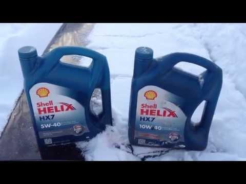 ТЕСТ моторного масла Shell 5w40 и Shell 10w40 на морозе. Какое масло лучше в мороз?