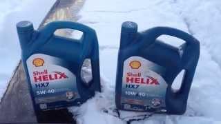 ТЕСТ моторного масла Shell 5w40 и Shell 10w40 на морозе. Какое масло лучше в мороз?(Моторное масло SHELL 5w40 и SHELL 10w40 зима мороз какое лучше и есть ли разница?, 2015-01-07T11:10:00.000Z)