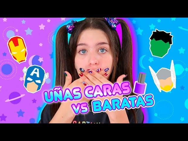 ME HICE LAS UÑAS MÁS BARATAS vs CARAS!!! CUAL ES MEJOR?!  | Leyla Star 💫