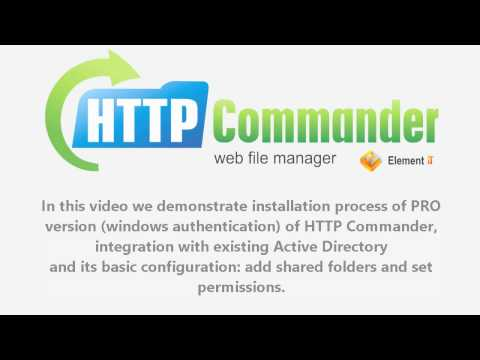 Web File Manager Http Commander Active Directory Integration Minutes To Install And Conf