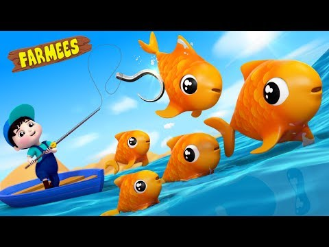 12345 Once I Caught A Fish A  Kids Nursery Rhymes  For Children  s  Farmees