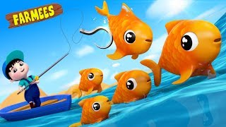 12345 Once I Caught A Fish Alive | Kids Nursery Rhymes | For Children | Videos by Farmees
