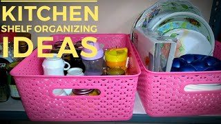 Small Kitchen organizing ideas in tamil/shelf  organizing with glassware items/kitchen space saving