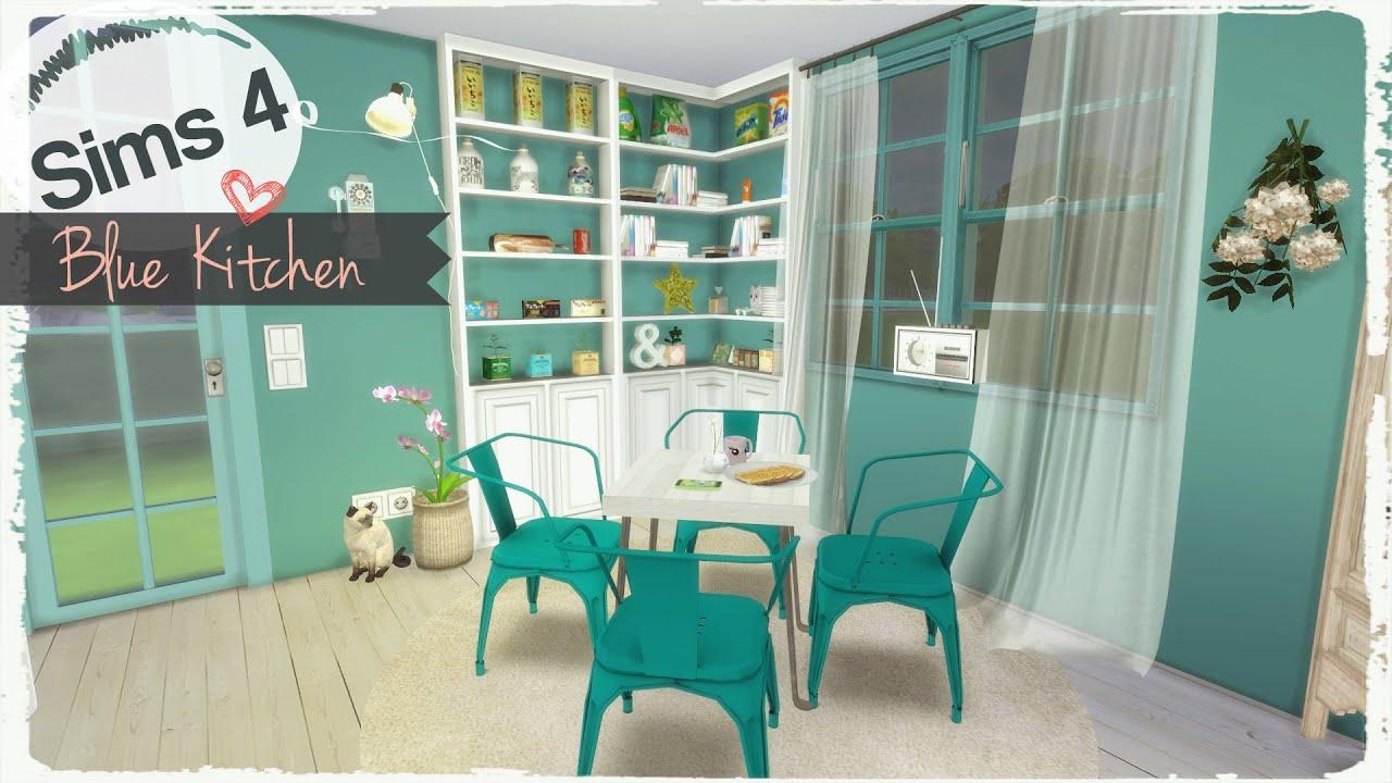 sims 4 blue kitchen youtube