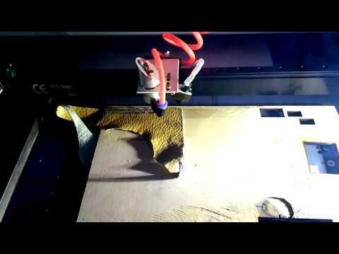 Лазерный станок с полем 40*40 см 40w резка гравировка кожи фанеры