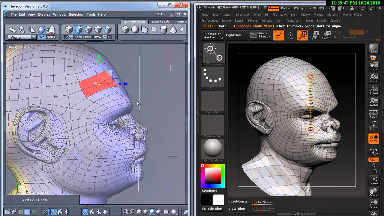 Sculpting In Daz3d Hexagon A Brief Overview Youtube