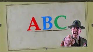 impara l'alfabeto con il sergente hartman