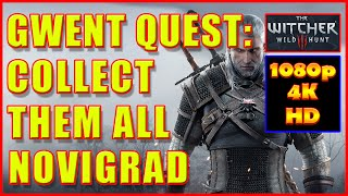 Witcher 3 - Gwent Cards Novigrad - Collect Them All - 4K Ultra HD