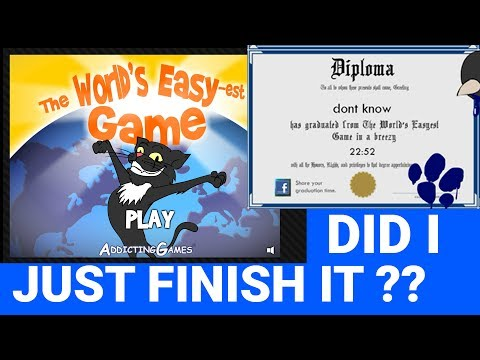 WORLD'S EASIEST GAME!? - FINISHED IT!!!