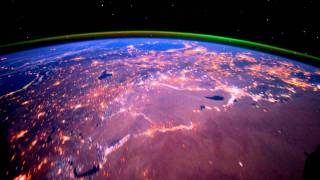 Night pass over the Middle East