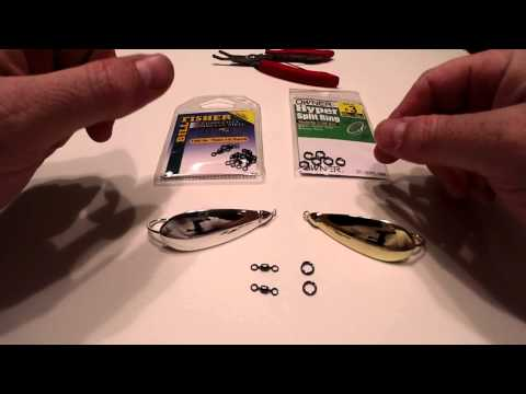 Adding Split Rings And Swivels To Spoon Type Lures