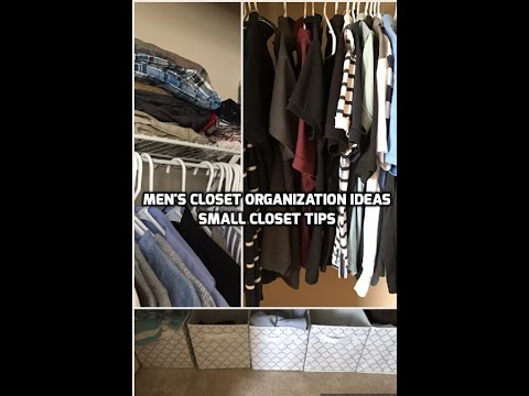 How To Organize Mens Closet