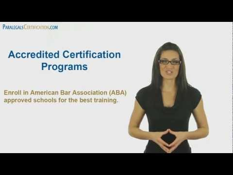Legal Assistant & Paralegal Certification Walkthrough