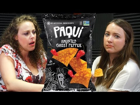 ASMR HOT CHIPS Battle! Crunchy Eating & Wet Mouth Sounds, Soft Spoken, Paqui Ghost Pepper Chips