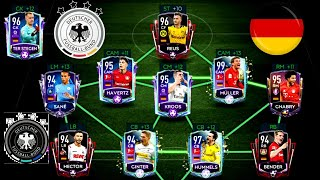 EPIC FULL GERMANY SPECIAL CARDS SQUAD BUILDER ! FIFA MOBILE 20 - MOST EXPENSIVE+ BEST SQUAD BUILDER