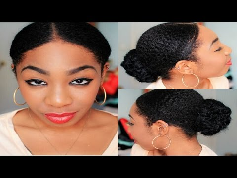quick sleek bun short natural