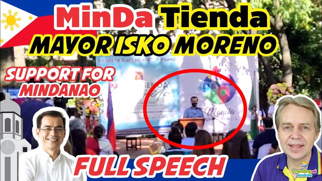 Mayor Isko Moreno Support Mindanao Speech during MinDa Tienda at The Kartilya Park Manila City Hall