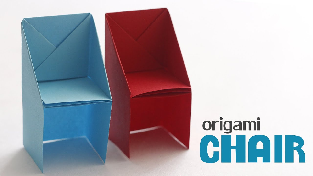 How to fold origami chair paper craft youtube jeuxipadfo Gallery