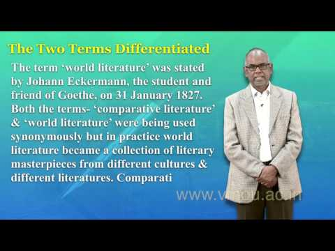 Comparative Literature: An Introduction