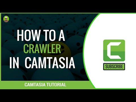 HOW TO CREATE A CRAWLER / SCROLLING TEXT/ NEWS STICKER  IN CAMTASIA 9