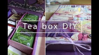 DIY Tea box from recycled materials | mini idea 132