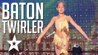 11 Year Old Baton Girl Wows Judges On France's Got Talent 2015 | Got Talent Global