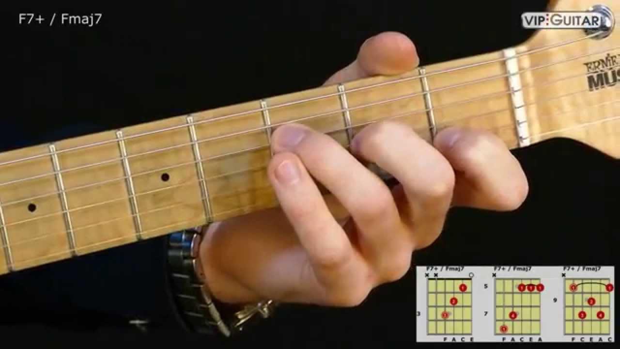 Gitarrenakkorde F7 Fmaj7 Chord Youtube