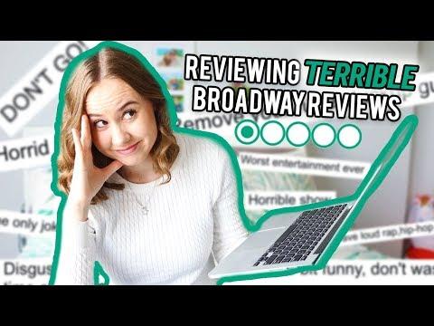 "Reviewing ""Terrible"" Broadway Musical Reviews"