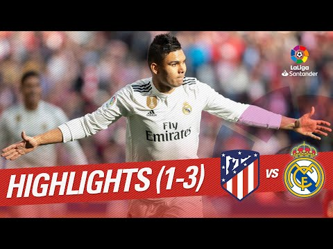 Highlights Atletico de Madrid vs Real Madrid (1-3) - 동영상