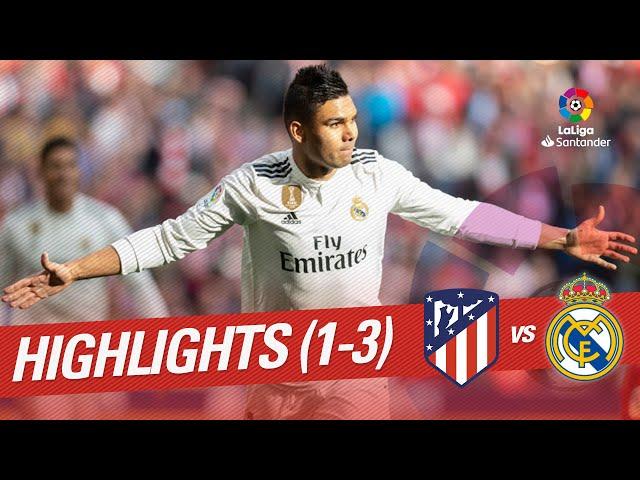 Highlights Atletico de Madrid vs Real Madrid (1-3)