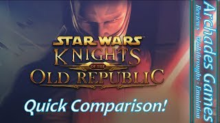 Star Wars: Knights of the Old Republic Xbox One, Xbox, Xbox 360, PC Comparison
