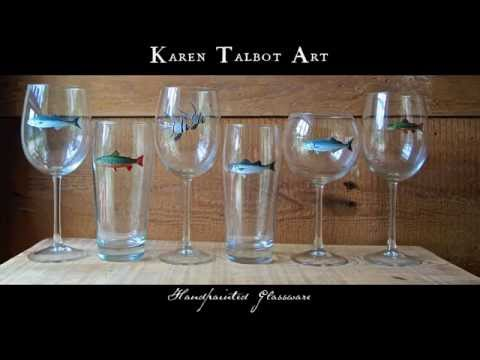 Handpainted Glassware for Dad - Father's Day 2015