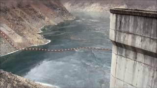 二瀬ダム(秩父湖)の水を抜いてみた@埼玉県秩父市