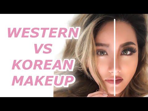 KOREAN vs WESTERN STYLE MAKEUP