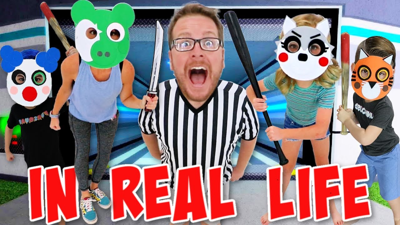 Roblox PIGGY INFECTION Mode IN REAL LIFE (Everyone Is Infected) with The FUNhouse Family