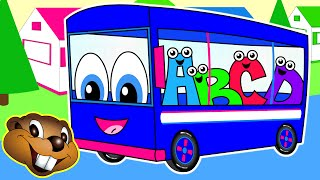 The Wheels On The Bus | Blue Bus Version | Popular Children