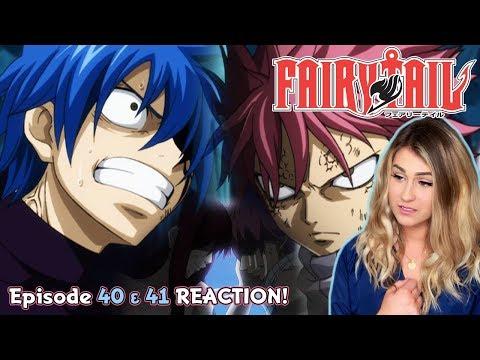 NATSU DEFEATS JELLAL! Fairy Tail Episode 40 & 41 REACTION!