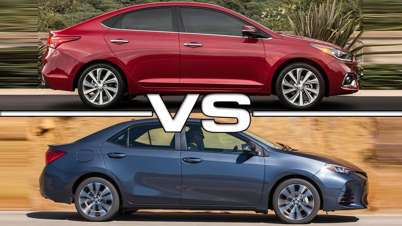 Corolla Vs Civic 2017 >> 2018 Hyundai Accent vs 2017 Toyota Corolla - YouTube