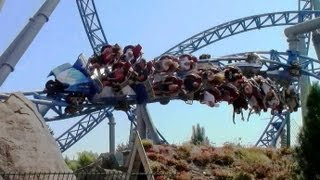 blue fire Megacoaster off-ride HD Europa Park
