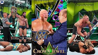 WWE Crown Jewel 17 October 2021 Highlights Brock 4th Time Champ Roman Lose Drew Wins Seth vs Edg