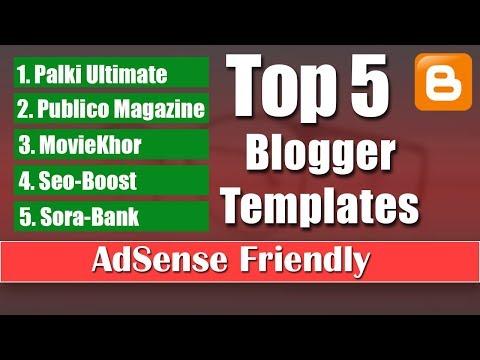 5 Blogger Templates AdSense Friendly Download Free [kamalgrd] 2019