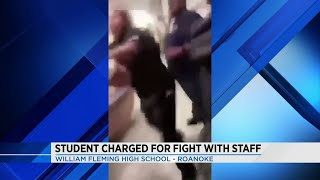 Roanoke student facing charges after fight with staff member