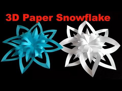 3D Paper Snowflake - How To Make a 3D Paper Snowflake Step By Step - 3D Origami Snowflake Tutorial