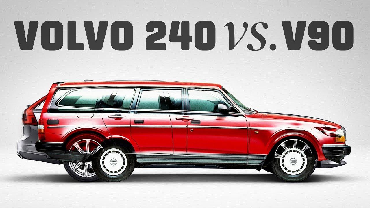 Volvo 240 vs. V90 − Tuulilasi