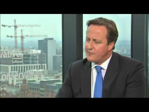 David Cameron talks to Jon Snow