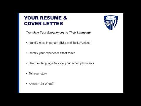 Resumes And Cover Letters Foundational Career Lab