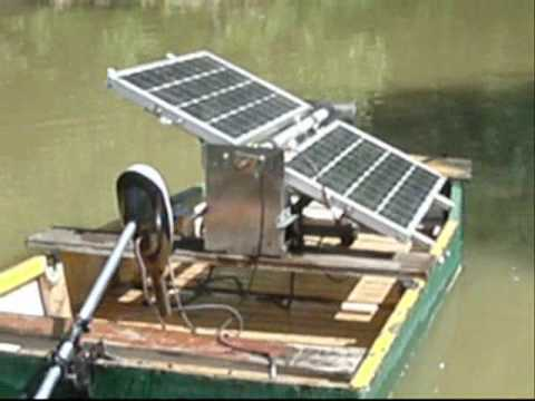 2x55 Watts Solar Boat Photovoltaic Home Made Youtube