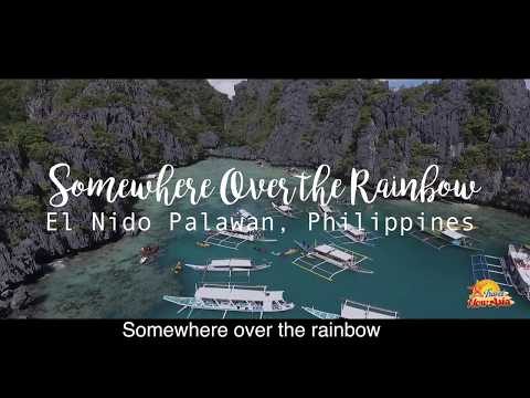 Somewhere Over the Rainbow- Lyrics - Overdriver Duo (El Nido Palawan Islands, Philippines)