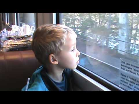 Titus and Grandpa Randy Ride Amtrak from Salem to Portland